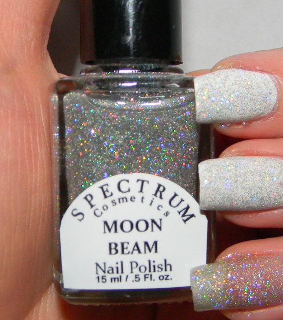 Spectrum Holographic Nail Polish: SILVER Holographic Glitter Nail Polish MOON By