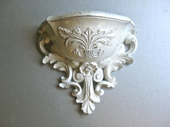 Vintage Wall Pocket Wall Sconce Planter Shabby Chic
