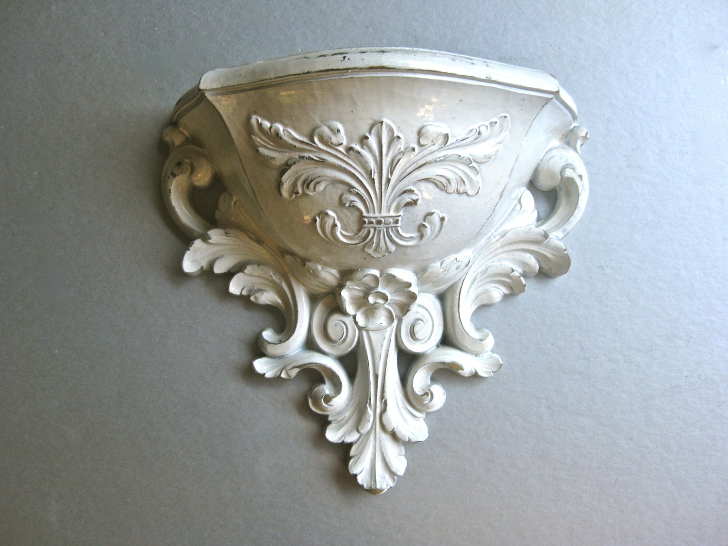 Wall Sconces Planters : Vintage Wall Pocket Wall Sconce Planter Shabby Chic by Swede13