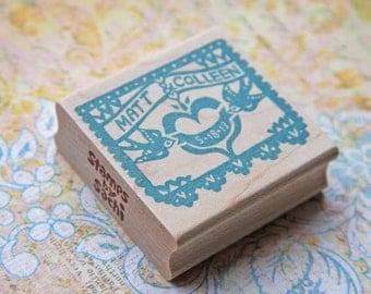 Papel Picado Wedding Stamp/ Papel Picado Invitation/ Papel Picado Save the date/ Wedding invitaiton stamp/ Vintagebabydoll design