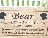 "Labrador Retriever Memorial- Maintenance free 12x6x3/8"" ""Bear"" design - Includes shipping"