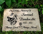 "Garden Memorial plaque. Maintenance Free 12""x8""x3/8"" ""Sam"" Design- Price includes shipping and..."