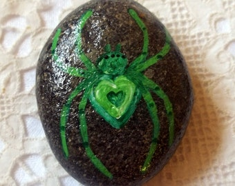 Green Spider Rock Art