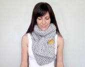 INSTANT DOWNLOAD Pocket Scarf CROCHET pattern chunky winter scarf with pockets pdf for her
