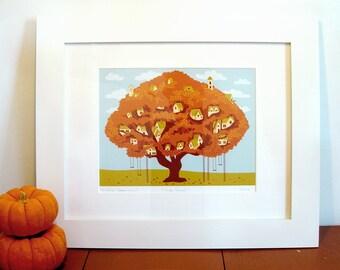 Tree Town Print