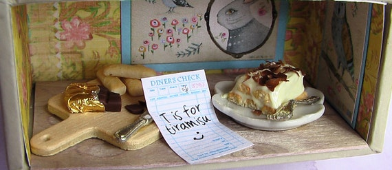 Diorama LIMITED EDITION ABCs of Dessert: T is for Tiramisu (1/12 scale)