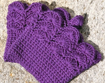 Boot Cuffs Plum Purple Boot Toppers Boot Socks crochet