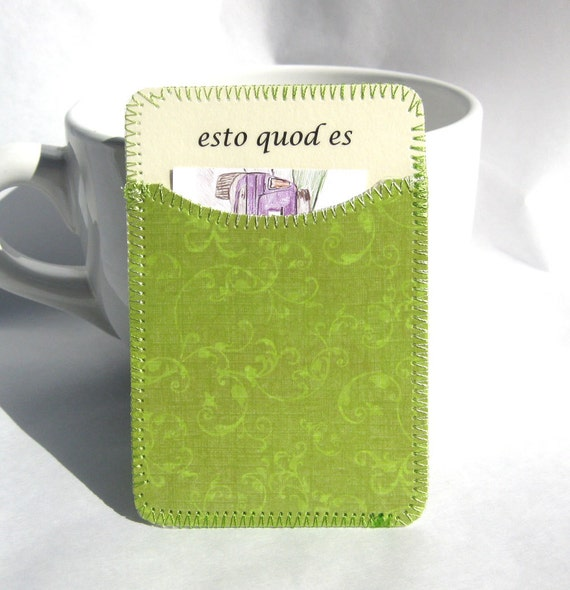 Esto Quod Es Small Card Holder