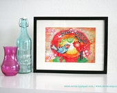 "Mixed Media 8,5 x 11 Art Print of original canvas ""You are magic"", lovely home decor"