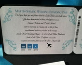 All Aboard Boarding Pass Wedding Invitation Suite