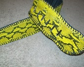 Clearance SALE Bright Yellow Python Guitar Strap