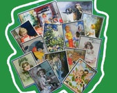13 Thank You Cards. BUY up to 3 SETS of 13 Vintage Children and Fairies Thank You Tags. 5046