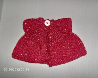 Sleeveless sweater for 16 inch waldorf doll