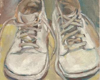 Baby Shoes Print of Original Oil Painting - Nursery Art -- fits an 8 x 10 frame
