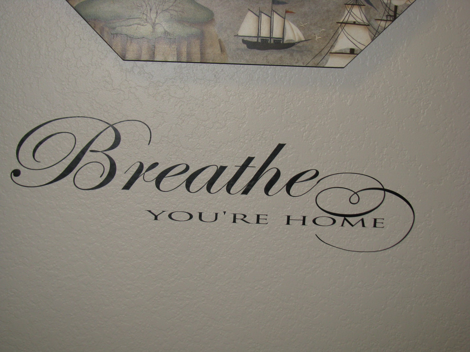 Foyer Window Quotes : Breathe you re home wall decal entry way quote vinyl