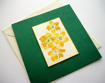 Art Greeting Card or Wall Hanging Original Flower Watercolor