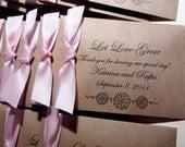 Wedding Seed Favors, Seed Packet, California Poppy Flower - Bundle of 25