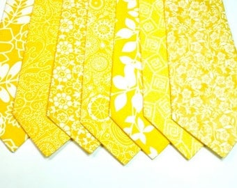Yellow Ties Yellow Neckties Yellow Mens Neckties Yellow Necktie Yellow Tie Wedding Neckties Yellow Wedding Neckties Custom Neckties