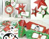 Kawaii Christmas Joy Giftwrap Editable Printable PDF