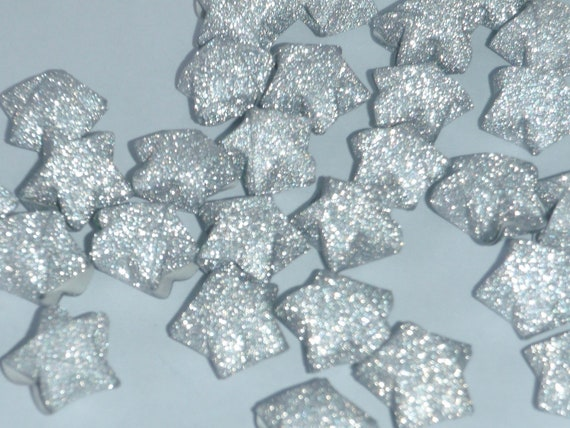 60 Origami Lucky Stars - Fairy Dust in Silver