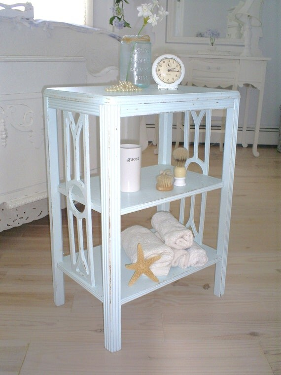 Reserved for Dana                                  table, bookcase shabby chic aqua