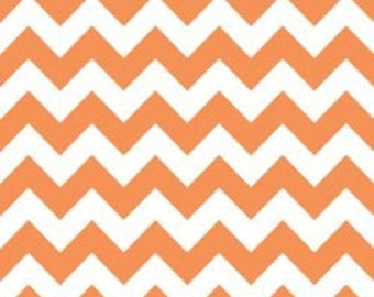 Riley Blake Medium Chevron Fabric in Orange -- 1 yard