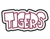 Tigers Digital Embroidery Machine Double Applique Design 2982