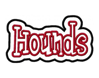 Hounds Embroidery Machine Double Applique Design 2751