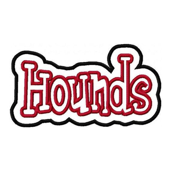 Hounds Embroidery Machine Double Applique Design 2751