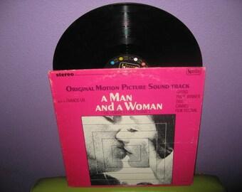 Vinyl Record Album A Man and a Woman (Un Homme et une Femme) Original Soundtrack LP 1966 Cannes Film Festival