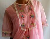 La Loire Creation Pink Nightgown Peignoir