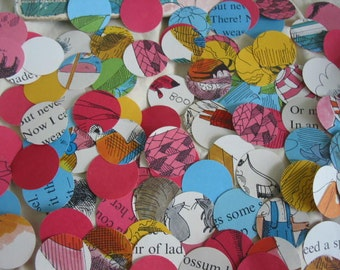 Vintage Children's Book Paper Punches - Never Tease a Weasel Circles
