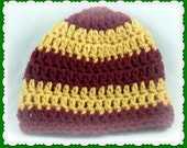 Harry Potter Baby Hat, Gryffindor Baby Beanie, crocheted hat