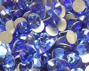 200 pcs SAPPHIRE Swarovski Crystal 2058 ss5 Rhinestone Flatbacks Non Hotfix
