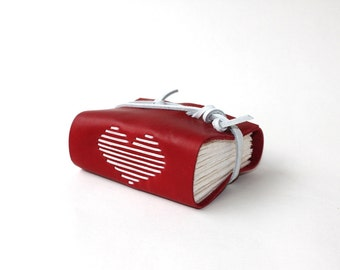 Wee Love - Handmade Red Leather Journal