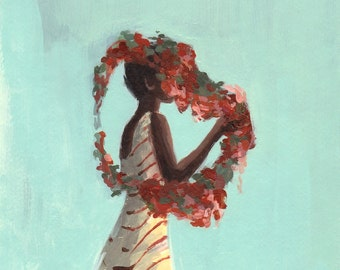 Rose Queen . giclee art print