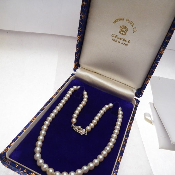 Maruwa Vintage Japanese Pearl Strand With Sterling Clasp