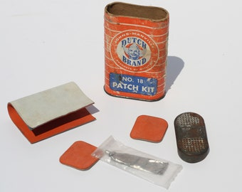 Vintage Dutch Brand Patch Kit 18 by John Manville Company with Accessories