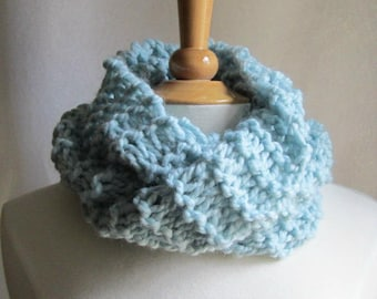 Soft and Plush Cloud Blue Cowl Scarf Neck Warmer