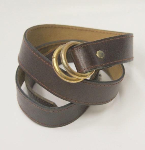 vintage leather d ring belt by hipandvintage on etsy