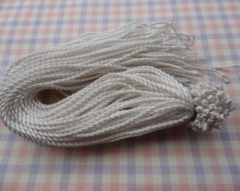 10pcs 18-20 inch 3mm beige twist silk necklace cord with loop and knot