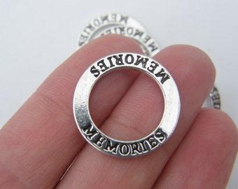 4  Memories pendants silver tone M345