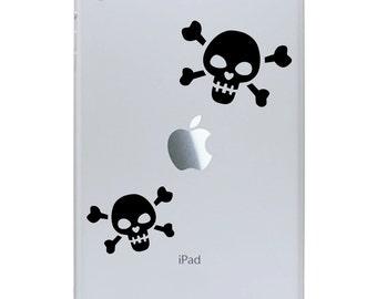 Skull iPad Mini Decal - Skull and Crossbones - Tablet Decal Sticker