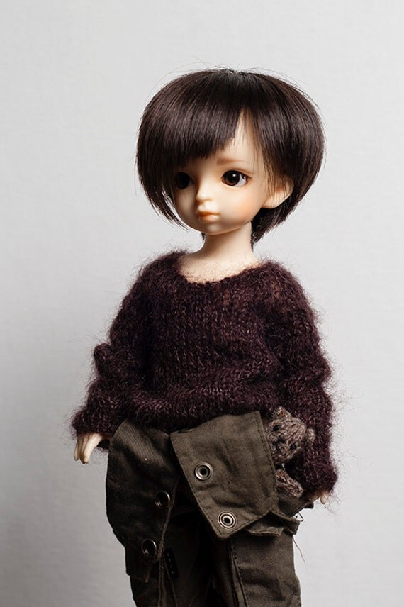 Bjd Yosd, Scoop Neck style Mohair sweater in Cocoa-Ready To Ship