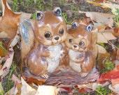 Vintage Napcoware Squirrel Planter C9237