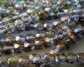 6mm Light Sapphire Firepolished Beads - Czech Glass