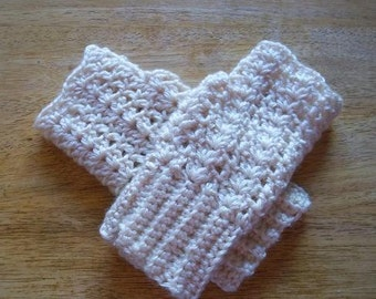 Ladies Lacy Fingerless Gloves - Your choice of color and Size