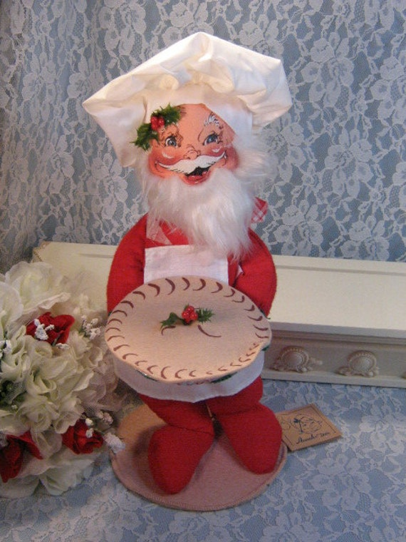 Vintage Annalee Dolls Baker Santa Claus Large 5492 Original Tags