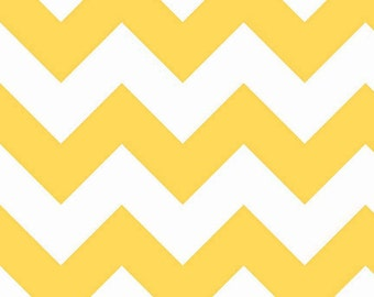 Chevron in Yellow LARGE by Riley Blake Designs, You Choose Cut