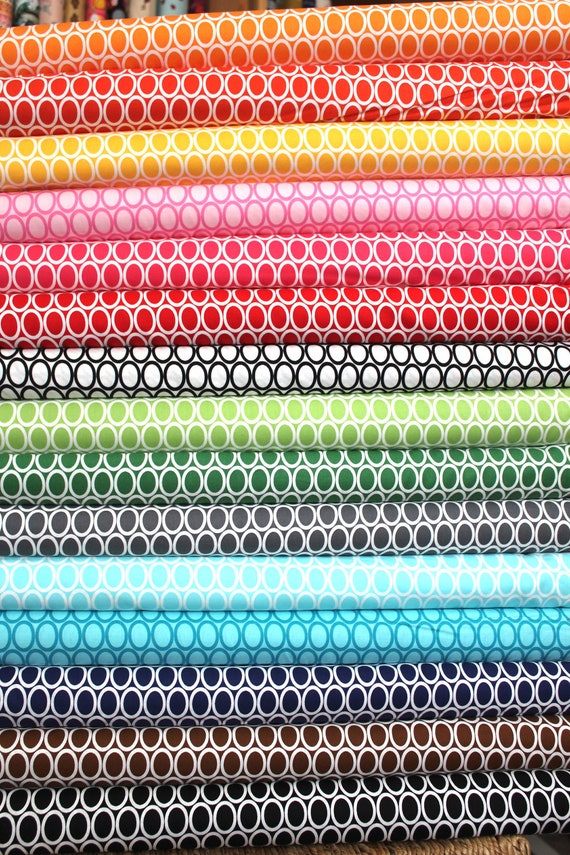 Ovals from Remix by Ann Kelle and Robert Kaufman, Fat Quarter Bundle, 12 total